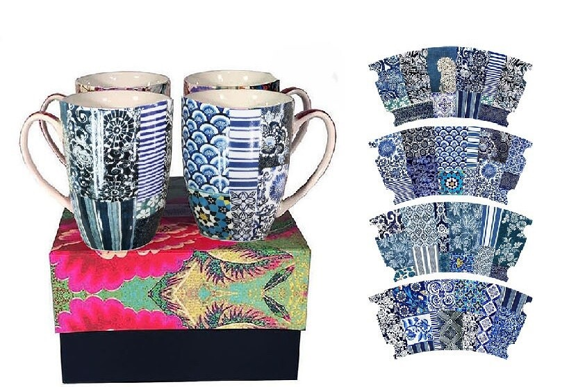 Mug Set Indigo