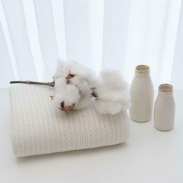 Organic Cradle/Bassinet Cell Blanket White