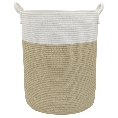 Cotton Rope Hamper Natural