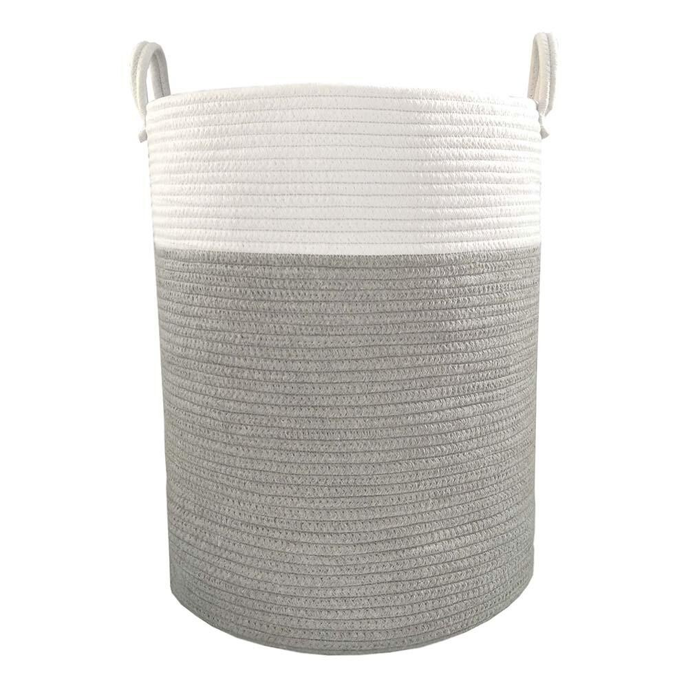Cotton Rope Hamper Grey