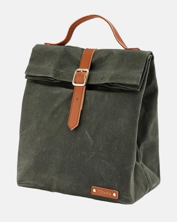 Insulated Olive Lunch Bag