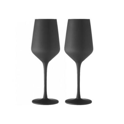 Matte Black Wine Glass 2pk