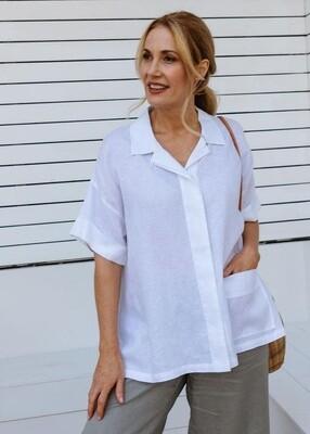 Button Shirt White