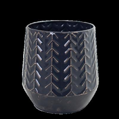 Metal Vase Midnight
