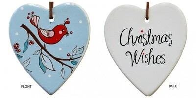 Hanging Heart Red Bird Xmas