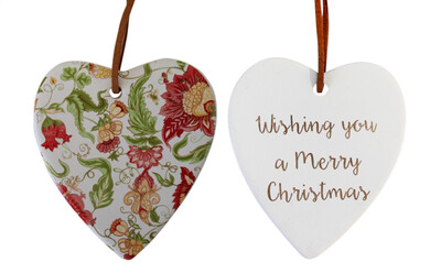 Hanging Heart Christmas Vintage