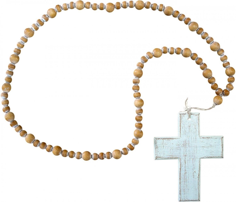 Beads White Cross