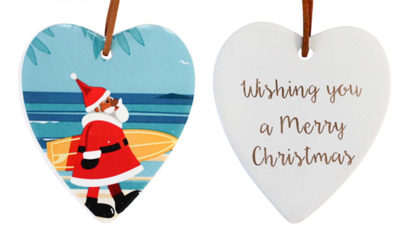 Hanging Heart Santa Coastal