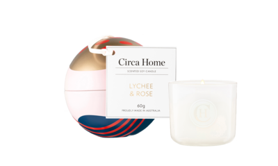 Candle Bauble Tin Lychee & Rose