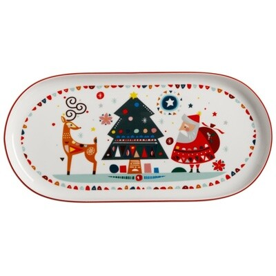 Festive Friends Oblong Platter 30x15cm