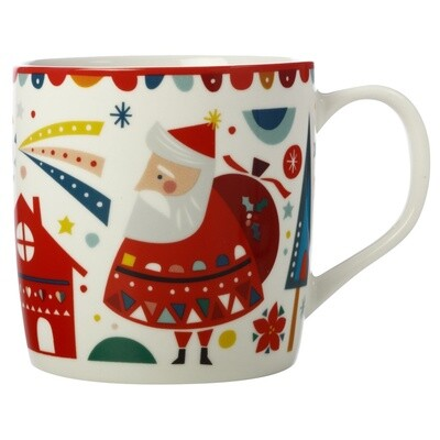 Festive Friends Mug 375ML Santa