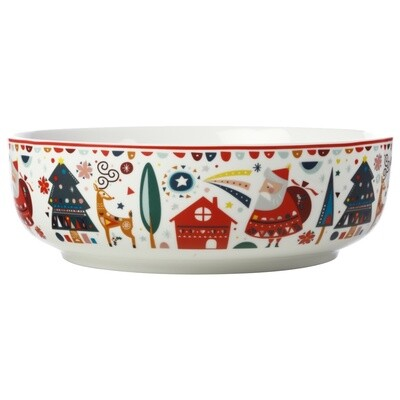Festive Friends Round Bowl 25cm