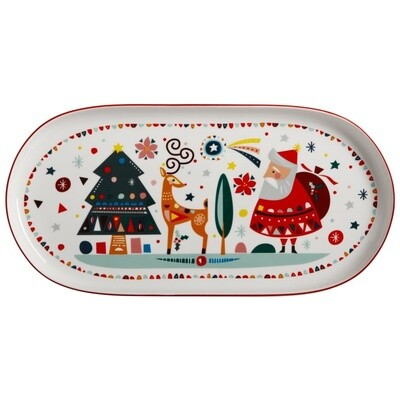 Festive Friends Oblong Platter 40x19cm
