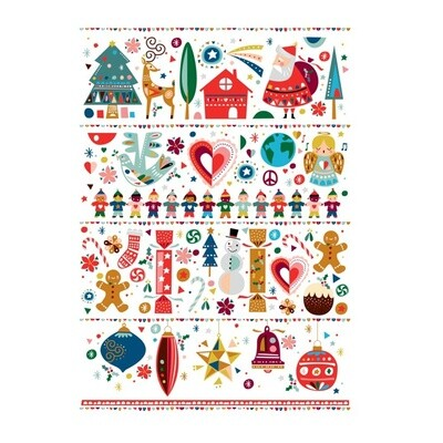 Festive Friends Tea Towel 50x70cm