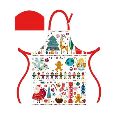 Festive Friends Children's Apron & Chef Hat Set