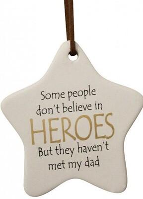 Hanging Star Dad Heroes