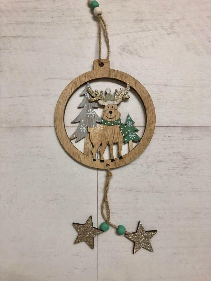 Reindeer Scene Bauble