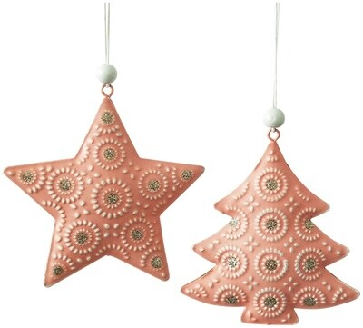Metal Tree Decoration Pink