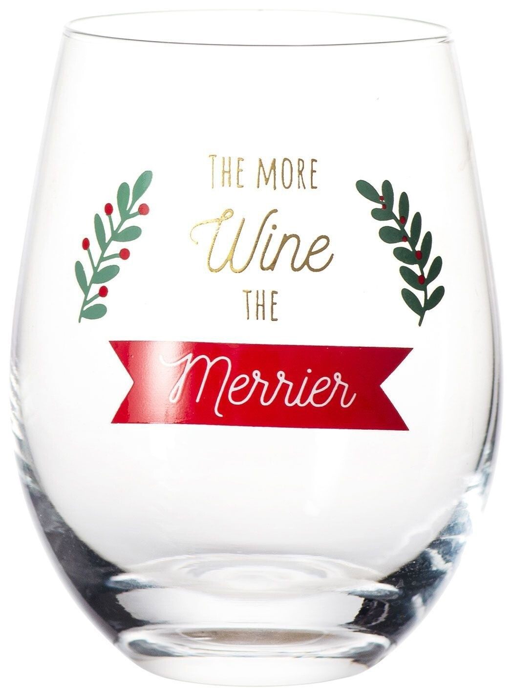 More Wine The Merrier Glass