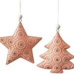 Metal Star Decoration Pink