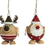 Round Reindeer Decoration
