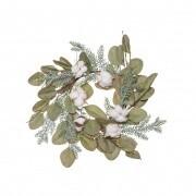 Eucalyptus Cotton Wreath