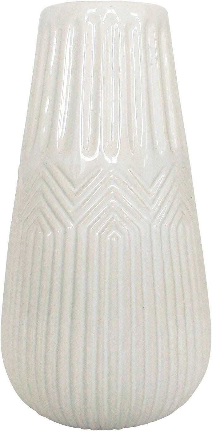 Zari Vase White Lg 24cm