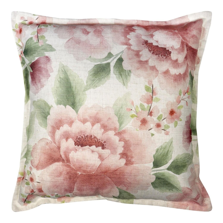 Camilla Blush/Green Cushion 50cm