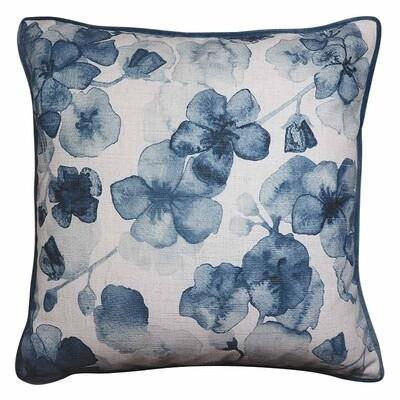 Cherry Blossom Blue Cushion 50cm