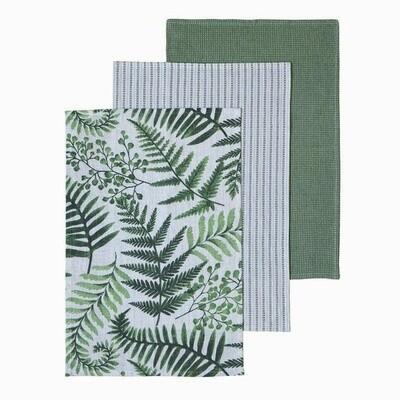 Glenaire Green Tea Towel Pack 3
