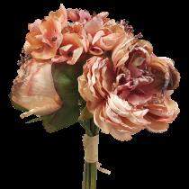 Dried Peony Hydrangea Bouquet
