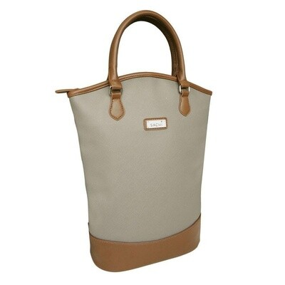 Two Bottle Wine Tote Taupe