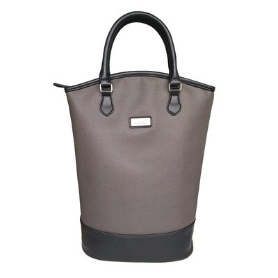 Two Bottle Wine Tote Charcoal