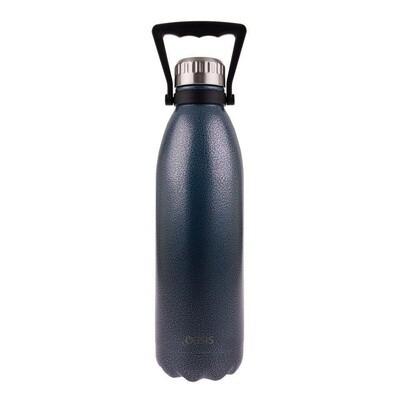 Drink Bottle 1.5L Hammertone Blue