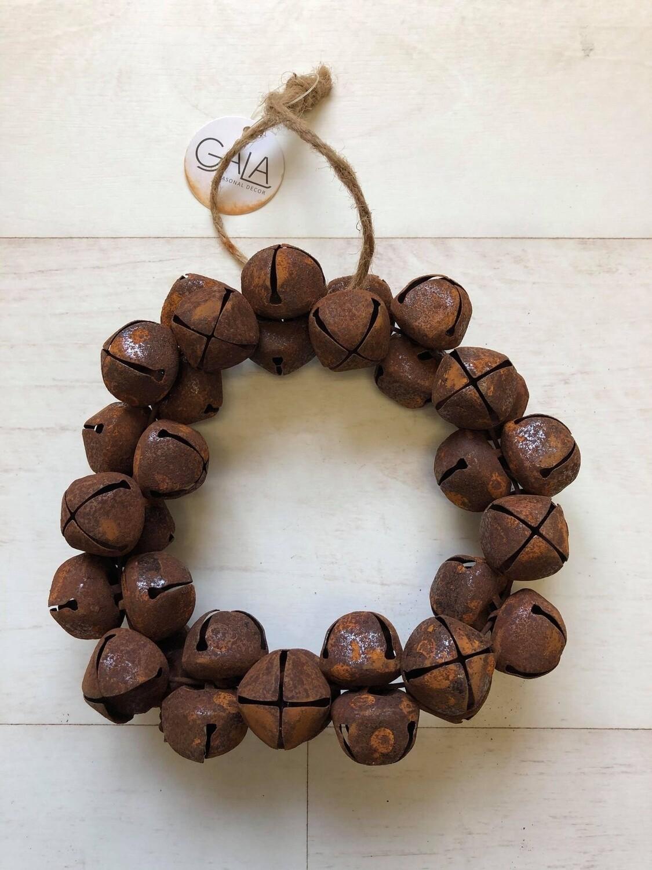 Rusty Nut Bell Wreath 8.5cm
