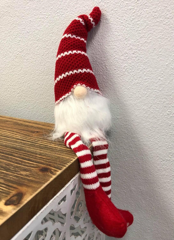 Gnome Dangle Leg Red 39cm