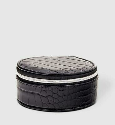 Sisco Croc Black Jewellery Box