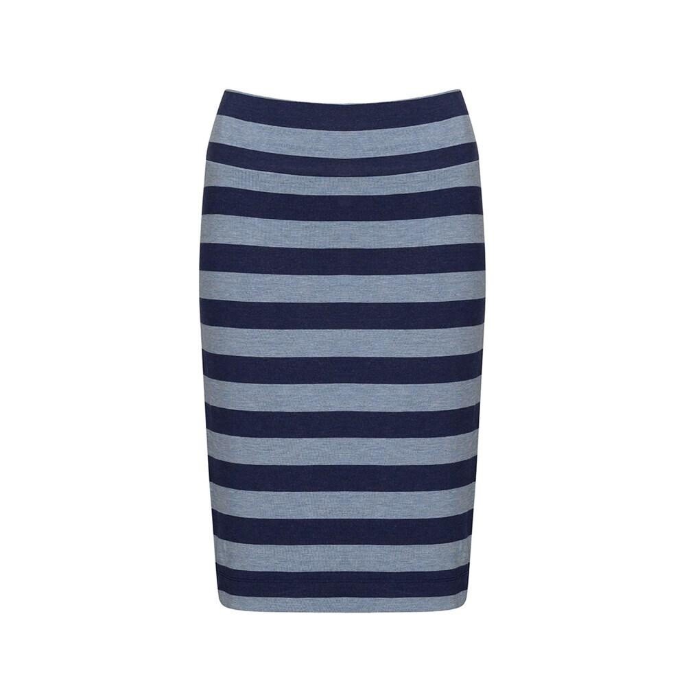 Midi Whitney Tube Skirt Indigo & Denim Stripe