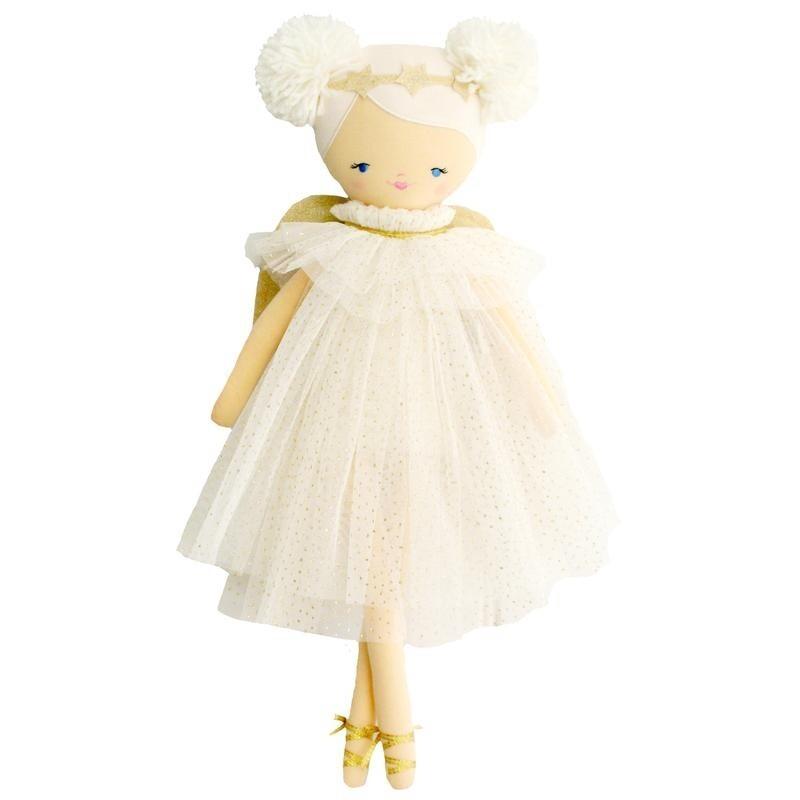 Ava Angel Doll Ivory Gold