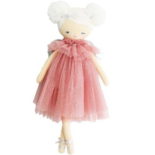Ava Angel Doll Blush Silver