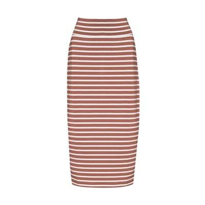 Long Whitney Tube Skirt Toffee & White