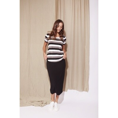 Long Whitney Tube Skirt Black