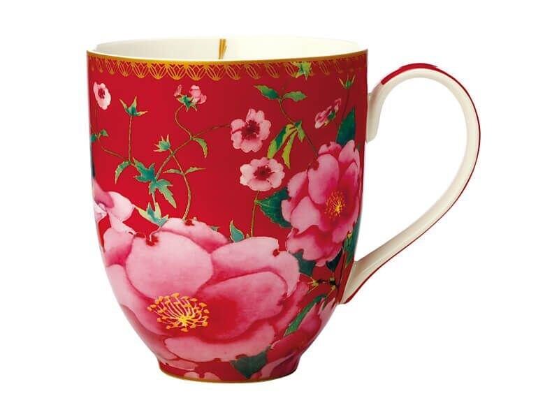Teas & C's Silk Road Coupe Mug 440ML Cherry Red