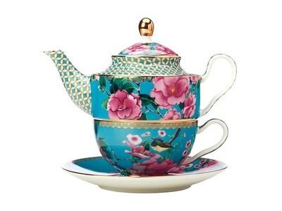 Teas & C's Silk Road Tea for One with Infuser 380ML Aqua
