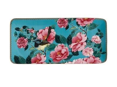 Teas & C's Silk Road Rectangle Platter 33x15.5cm Aqua