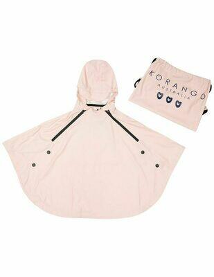 Summer Rain Poncho & Rain Bag - Dusty Pink