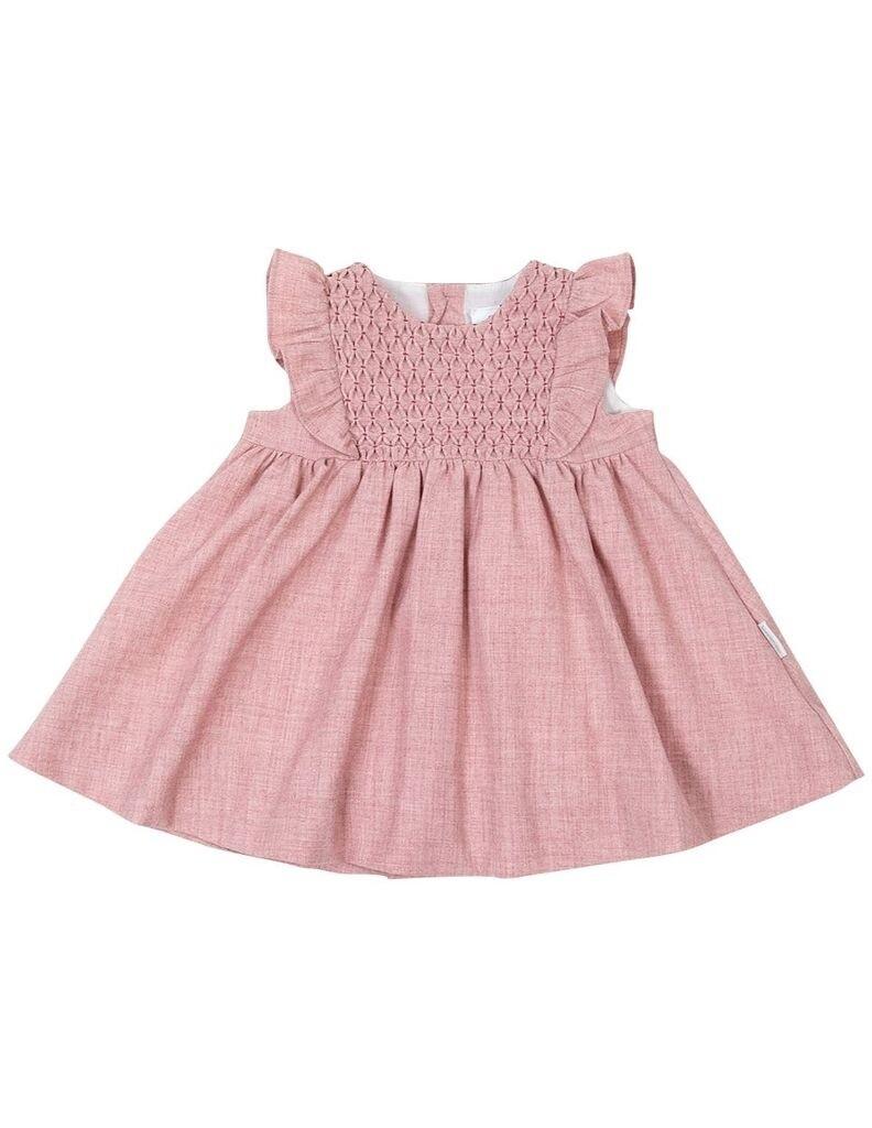 Vintage Girl Smocked Dress - Pink
