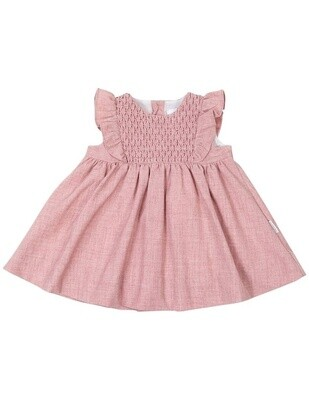Vintage Girl Smocked Dress - Pink