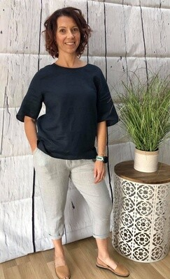 Linen Pant Grey O/S