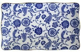 Plate Rect Indian Blue